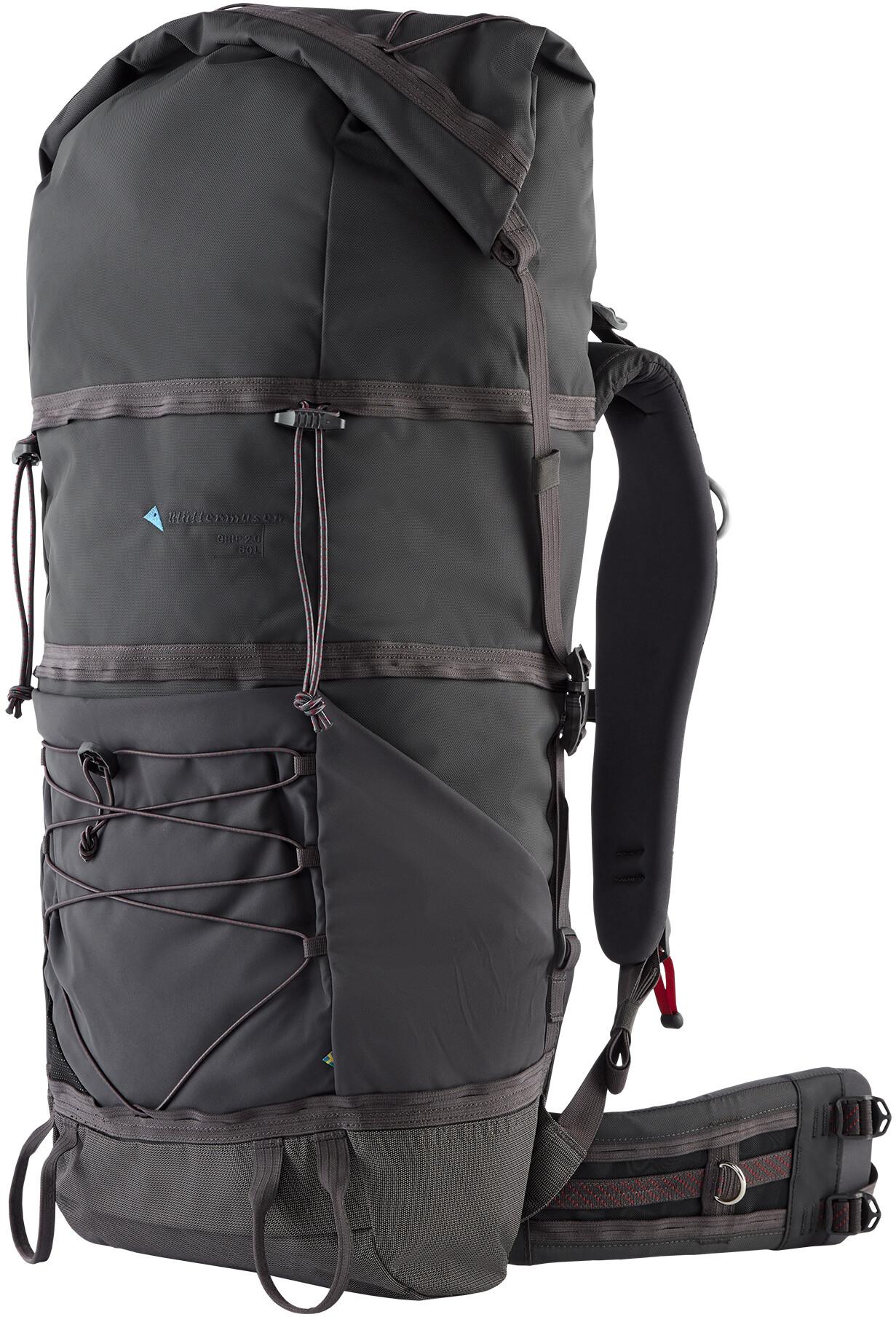 47c3032b Klättermusen Grip 2.0 Trekking Backpack 60L raven at Addnature.co.uk